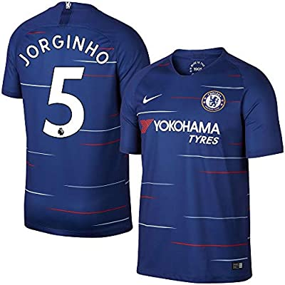 huge discount 6c54e e6678 Amazon.com : Nike Chelsea Home Jorginho 5 Jersey 2018/2019 ...