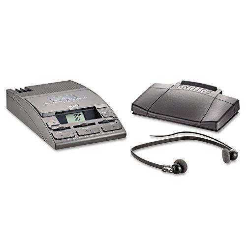 Philips LFH072052 720-T Desktop Analog Mini Cassette Transcriber Dictation System w/Foot Control