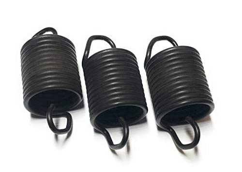 63907 - (3 PACK) OEM FACTORY ORIGINAL WHIRLPOOL KENMORE WASHER SUSPENSION SPRING, Black, 1x1x1 ()