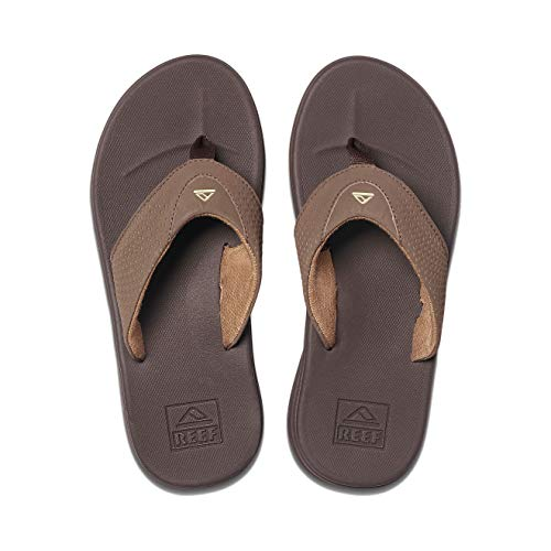 Reef Men's Sandals Rover | Water-Friendly Men's Sandal With Maximum Durability and Comfort | Waterproof, Brown, 11