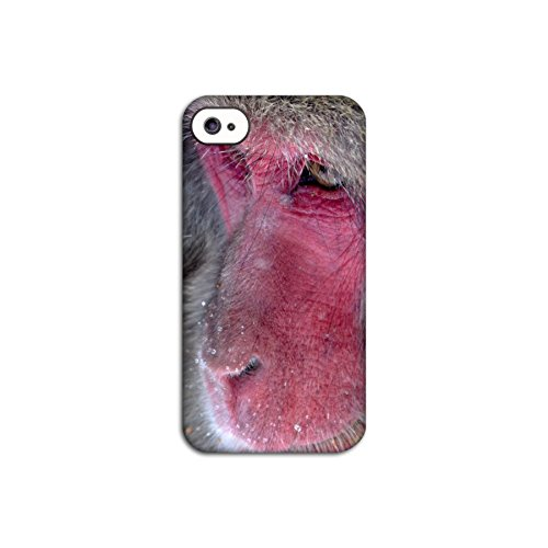 Red Faced Monkey Deflector Back Case for Apple iPhone 4 4S