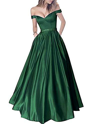 Fuori Partito Sera Di Perline Vestito Da Della Scuro Da Donne Nuziali Tasche Verde Bess Spalla Promenade Dal wc4HxqUxIF