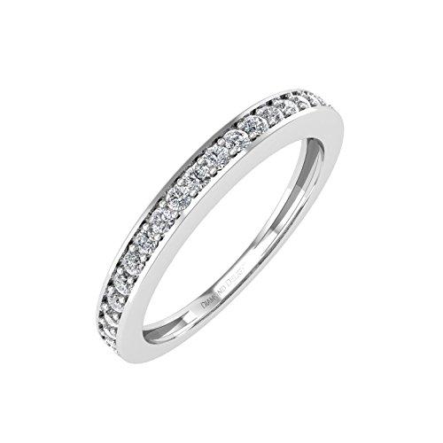 IGI Certified 10k White Gold Diamond Wed - Prong Set Diamond Eternity Band Shopping Results
