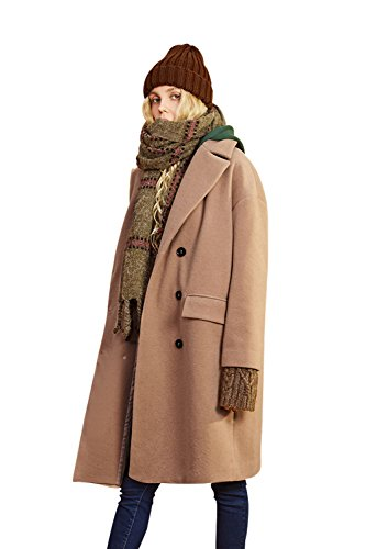 Thick Camel (Elf Sack Women's Mock Two-Piece Coat Winter Academy Look Jacket Camel Medium)