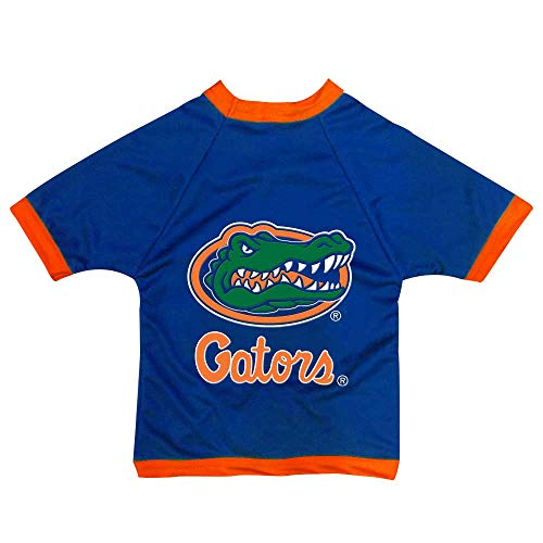 - NCAA Florida Gators Athletic Mesh Dog Jersey, Team Color, Large