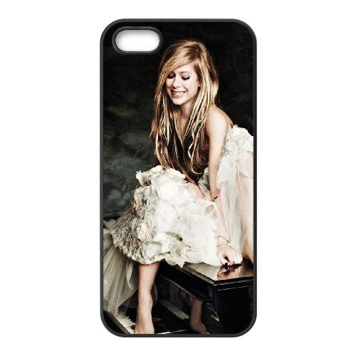 Avril Lavigne Piano Smile Dress Legs 3181 coque iPhone 4 4S cellulaire cas coque de téléphone cas téléphone cellulaire noir couvercle EEEXLKNBC23275