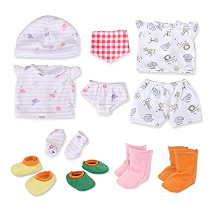 Amazon Com Wakaofeeling Baby Doll Clothes And Shoes For Baby 11 12