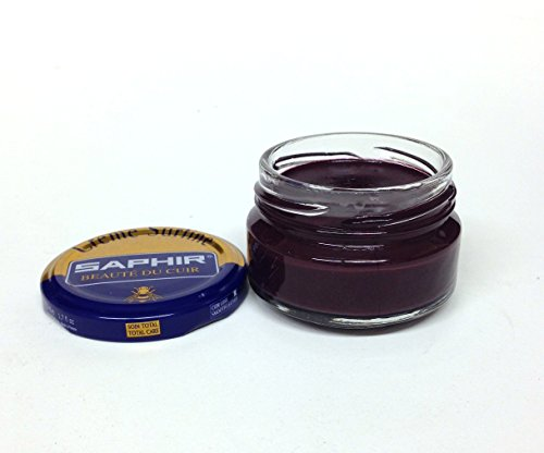 Match Leather Cream (Saphir Shoe Cream Beaute du Cuir Creme Surfine 50ml glass jar (Plum))