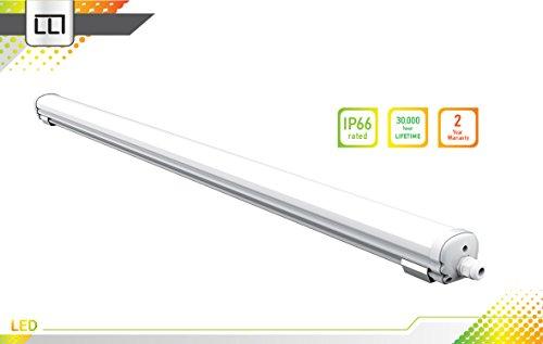 LLT LED Vapor Proof Fixture 4ft 32W 5000K - Daylight, Seamless Series