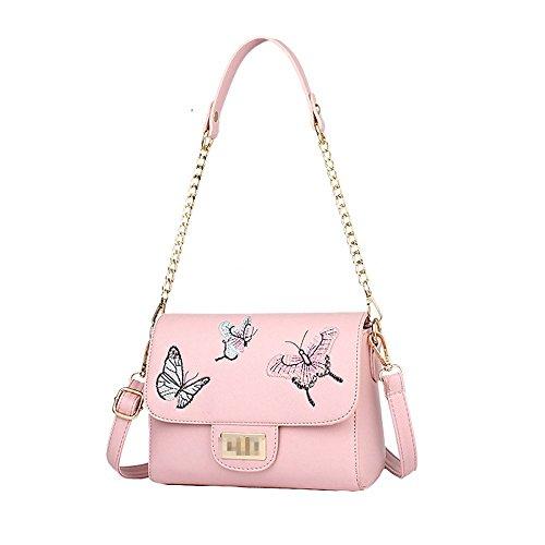 BAILIANG Lady Fashion Mini Sac à Bandoulière Pu Cuir Imprimé Satchel Sac À Chaussures Pour Les Femmes Pour Les Femmes Multicolore Pink