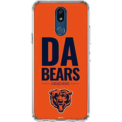Skinit Chicago Bears Team Motto LG K30 Clear Case - Officially Licensed NFL Phone Case Clear - Transparent LG K30 Cover