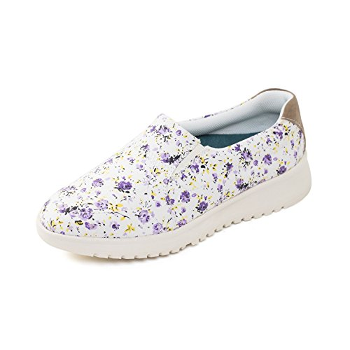 Wide Padders Footcare Grow' Fit Shoe EE UK Plimsoll Women's Purple Free 'Re Floral Horn qwrx8qI