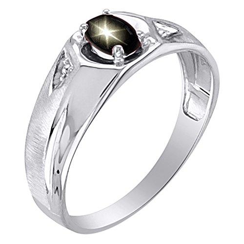 Black Star Sapphire Ring 14K Yellow or 14K White Gold