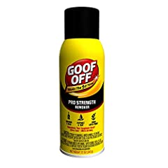 Smells strong because when you work hard, you get smelly.  Goof Off Pro Strength Remover works the first time quickly and easily removing tough spots and stains, like chewing gum, that ordinary household cleaners can't.  Removes: adhes...