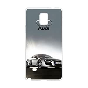 Audi For Samsung Galaxy Note 4 N9108 Cell Phone Case White BTRY10906