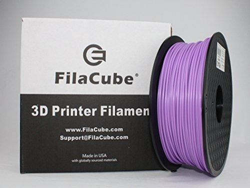 Purple [21 Color Options] FilaCube 1.75mm 1 kg PLA 2 (PLA 2nd Generation) 3D Printer Filament [Made in USA] Light Bluish-Violet Indigo Blue-Violet 2.2 lbs pounds ()