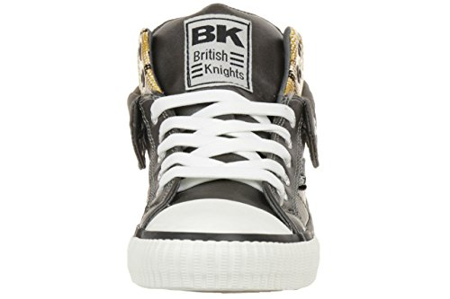 British brown trainer ROCO Sneaker B34 Knights yellow 3745 Grey BK 03 B34 Dark women 3745 03 rqgwrnzxC