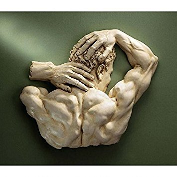 Design Toscano Theseus Sculptural Wall Frieze