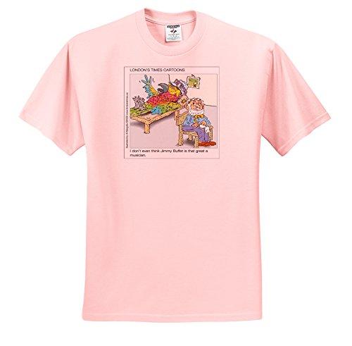 Londons Times Funny Cartoons - Parrotheads Against Buffett - T-Shirts - Adult Light-Pink-T-Shirt XL (ts_2475_37)