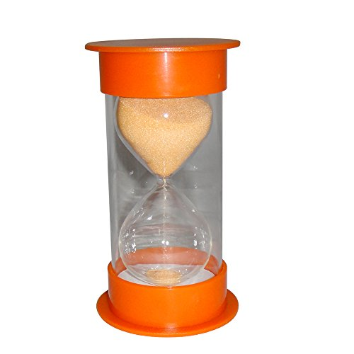 VStoy Hour glass 30 Minutes Sand Timer (Orange) (Timer Plastic)