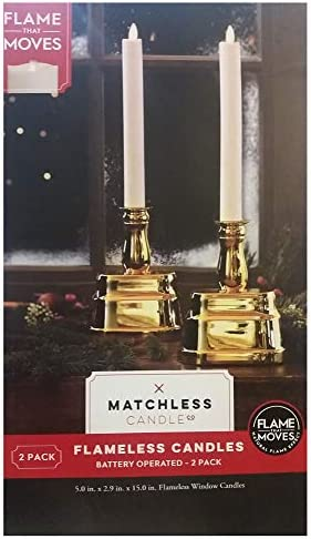 Flameless Candles Battery Operated 2 Pack