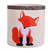 HIYAGON Storage Bin,Cube Hamper Box for Kids toys Animal Theme Decor Perfect for Baby Nursery(Fox)