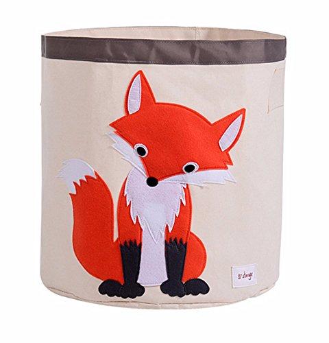HIYAGON Storage Bin,Cube Hamper Box for Kids Toys Animal Theme Decor Perfect for Baby Nursery(Fox) from HIYAGON