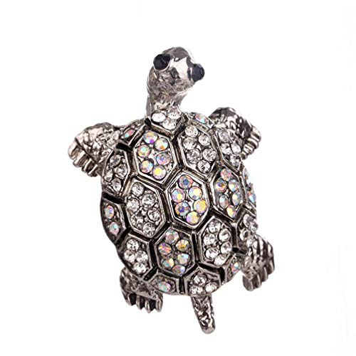 andy cool Vintage Rhinestone Turtle Brooch For Men Women Suits Dress Banquet Brooch Gift Durable and - Turtle Brooch Vintage