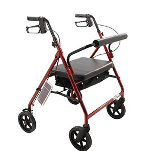 Bariatric Rollator Walker Heavy Duty with Large Padded Se...