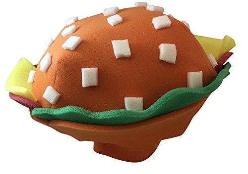 Hamburger Foam Party Hat for Men Women One Size Fits Most -