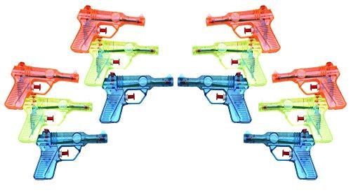 BeautyMood Plastic Squirt Gun - Mini Squirt Gun (12 Count) - Party Supplies ()