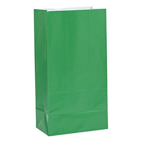 Green Paper Party Favor Bags, 12ct (3 -