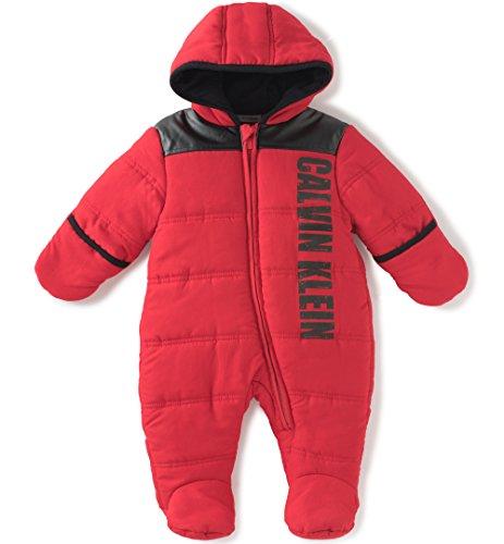 Calvin Klein Baby Quilted Pram, Red, 3-6 Months
