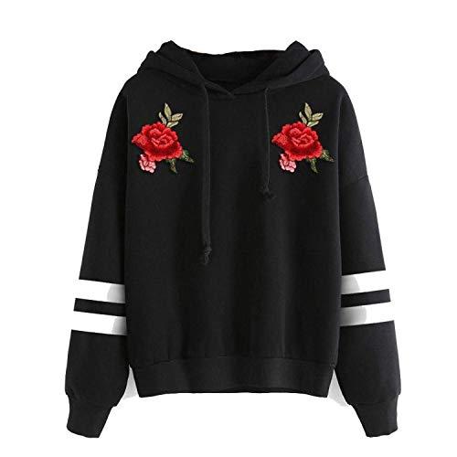 manica Comradesn con pullover felpa Womens cappuccio lunga Black3 stile XX con Large maglione cappuccio semplice 5w4rSq4Y