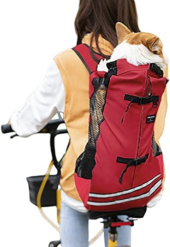 dojeep Pet Carrier Backpack for Dog, Adjustable Pet Backpack Cat Dog Carrier Backpack Travel Bag, Breathable Mesh Pet Supplies Backpack for Dogs Cats