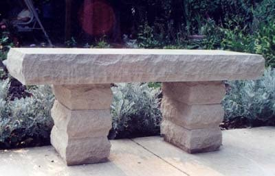 Gris Indiana piedra caliza piedra Boulder banco: Amazon.es: Jardín