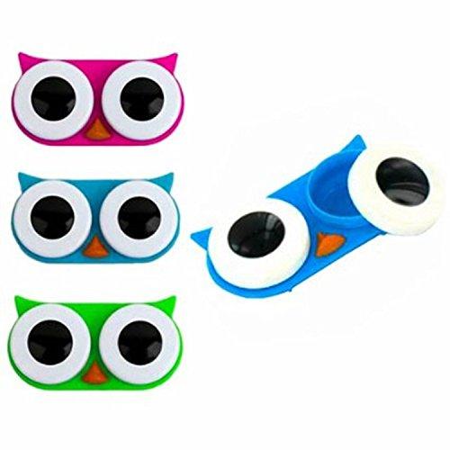 Owl Contactez Lens Case, couleur Envoyer aléatoires