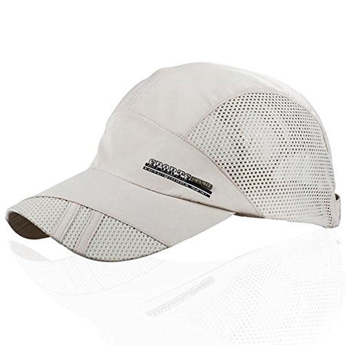 YING LAN Men's Summer Outdoor Sport Baseball Hat Running Visor Sun Cap (Sports And Outdoors)