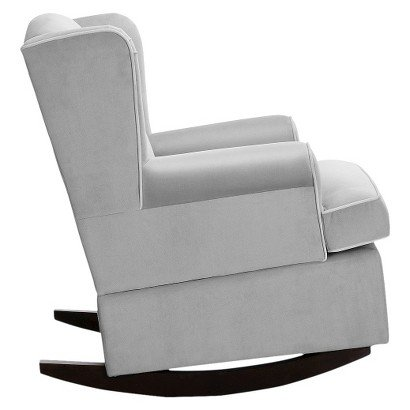 Amazon.com : Eddie Bauer Wingback Upholstered Rocker   Grey   Wingback Chair    Rocking Chairs   Comfortable Seat   Bedroom Chair   Nursery Collection :  Baby