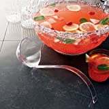 ELEGANT SMOKE COLOR PLASTIC PUNCH LADLE 48CS