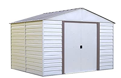 Vinyl Milford 10 ft. x 12 ft. Vinyl-Coated Steel Storage Shed(10 x 12 ft.3,0 x 3,6 m)