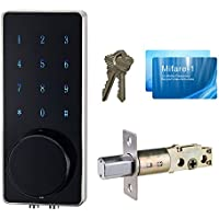 HAIFUAN Electronic Touch Screen Code Lock, Unlock With Miafare Card, Code or Key.