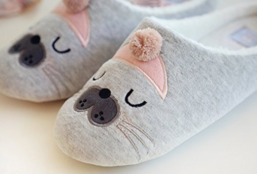 Cattior Slippers Cat Slippers Indoor Womens Light Comfy Warm Gray Cute 7r7q4X