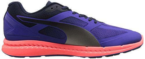 Puma Mens Ignite Running Shoe Deep Blue / Navy / Fluorescent Peach