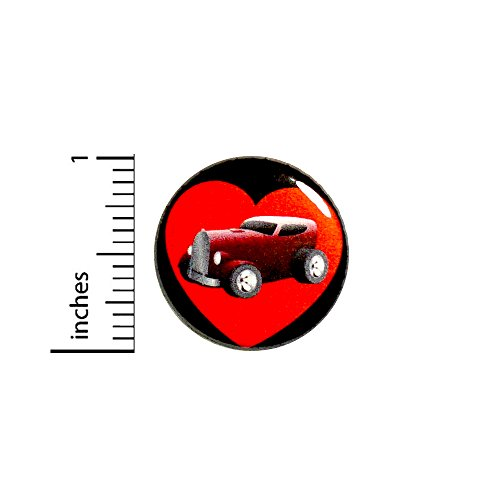 Hot Rod Love Classic Cars Button Jacket Pin Vintage Car Collector Gift 1