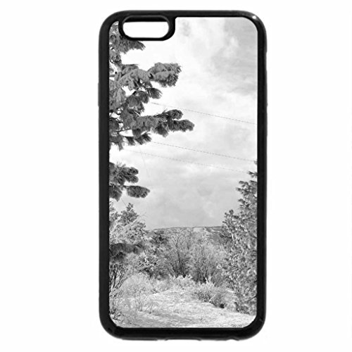 iPhone 6S Plus Case, iPhone 6 Plus Case (Black & White) - asphalt road on a hill in winter