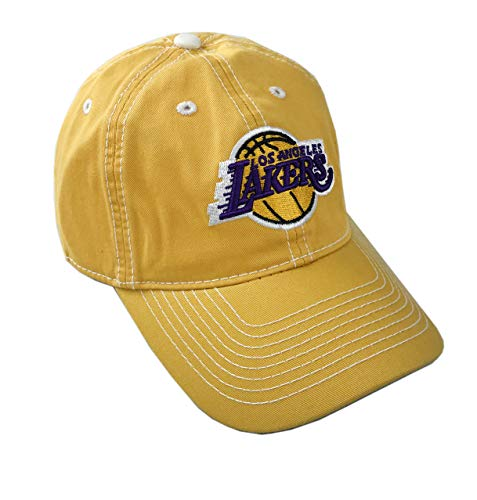adidas NBA Official Licensed Adjustable Curved Bill Hat (Los Angeles Lakers, One_Size Adjustable)