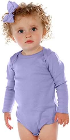 Kavio! Unisex Infants Lap Shoulder Long Sleeve Onesie