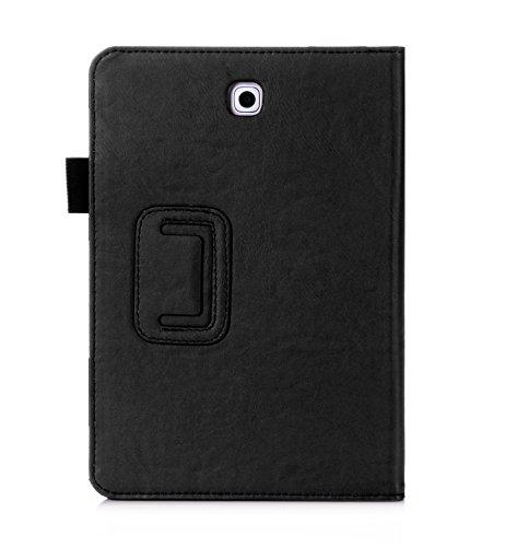[해외]갤럭시 탭 S2 8.0 케이스, SAVYOU (SM-T710 / T715) 벨크로 핸드 스트랩, 카드 슬롯, 포켓, 프리미엄 폴리오 슬림 PU 가죽 칼슘 멀티 기능 가죽 케이스/Galaxy Tab S2 8.0 Case, SAVYOU (SM-T710/T715) Multi Function Leather Case with Velcro Han...