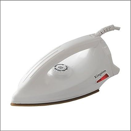Buy Kingston Duster-White Electric Iron Non-stick with alluminium